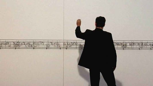 121104 Achim Vogel Performance an Peter Vogels großer Klangwand_Moment_klein